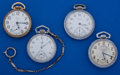 Timepieces:Pocket (post 1900), A Lot Of Four 16 Size American Pocket Watches All Runners. ... (Total: 4 Items)