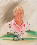 Baseball Collectibles:Others, Mickey Mantle Original Oil Painting....