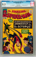 Silver Age (1956-1969):Superhero, The Amazing Spider-Man #12 (Marvel, 1964) CGC VF+ 8.5 Off-white pages....