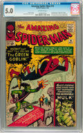 Silver Age (1956-1969):Superhero, The Amazing Spider-Man #14 (Marvel, 1964) CGC VG/FN 5.0 Off-white pages....