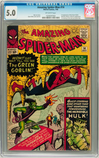 The Amazing Spider-Man #14 (Marvel, 1964) CGC VG/FN 5.0 Off-white pages
