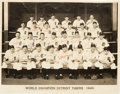 Autographs:Photos, 1945 Detroit Tigers Team Signed Large Photograph....