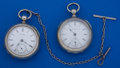 Timepieces:Pocket (pre 1900) , Two 18 Size Key Wind Pocket Watches Runners. ... (Total: 2 Items)