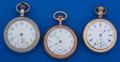 Timepieces:Pocket (post 1900), A Lot Of Three 18 Size American Pocket Watches Runners. ... (Total:3 Items)