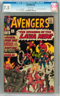 Silver Age (1956-1969):Superhero, The Avengers #5 (Marvel, 1964) CGC VF- 7.5 Off-white pages....