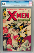 Silver Age (1956-1969):Superhero, X-Men #1 (Marvel, 1963) CGC VG/FN 5.0 White pages....