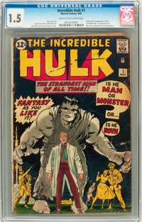 The Incredible Hulk #1 (Marvel, 1962) CGC FR/GD 1.5 Cream to off-white pages
