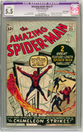 Silver Age (1956-1969):Superhero, The Amazing Spider-Man #1 (Marvel, 1963) CGC Apparent FN- 5.5Off-white pages....