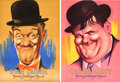 "Movie Posters:Comedy, Laurel and Hardy Personality Poster Lot (MGM, 1938). French Affiche(2) (22"" X 31"").. ... (Total: 2 Items)"