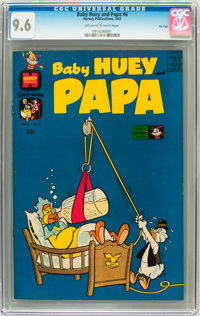 Baby Huey and Papa #6 File Copy (Harvey, 1963) CGC NM+ 9.6 Off-white to white pages