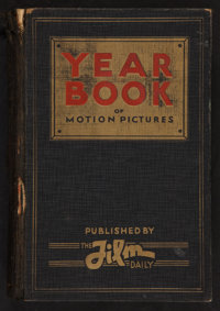 """Film Daily Year Book of Motion Pictures (Film and Television Daily, 1930). Hardcover Book (1058 pages, 6.25"""" X 9.25..."""