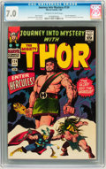 Silver Age (1956-1969):Superhero, Journey Into Mystery #124 (Marvel, 1966) CGC FN/VF 7.0 Off-white to white pages....