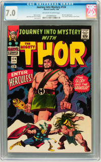 Journey Into Mystery #124 (Marvel, 1966) CGC FN/VF 7.0 Off-white to white pages