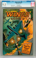 Golden Age (1938-1955):War, Wings Comics #64 (Fiction House, 1945) CGC NM- 9.2 Off-white pages....