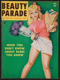 """Beauty Parade (Sep, 1950). Magazine (56 Pages, 8.5"""" X 11.5""""). Miscellaneous"""