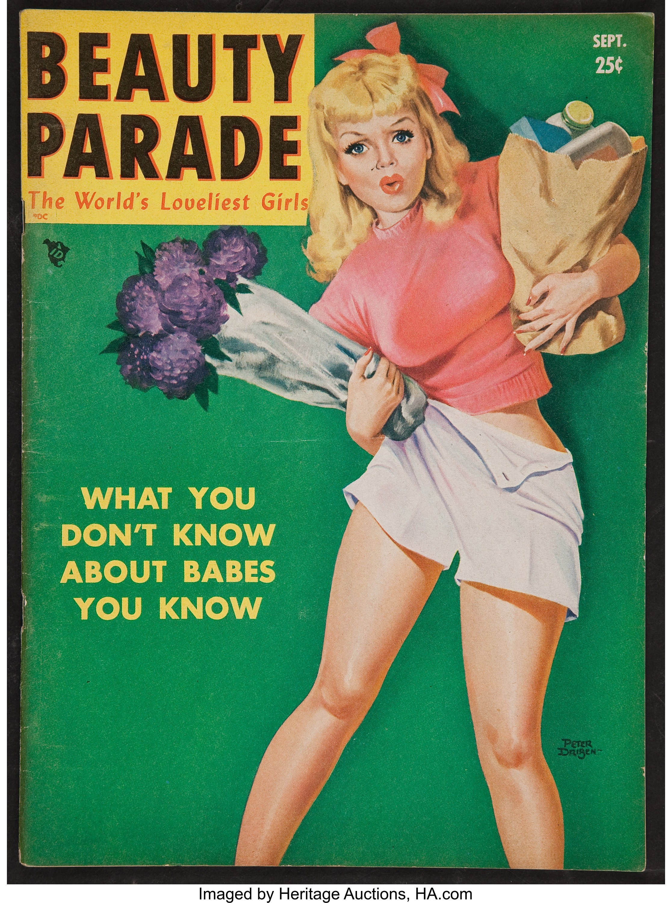 Beauty Parade Sep 1950 Magazine 56 Pages 8 5 X 11 5 Lot 50045 Heritage Auctions