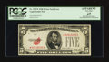 Error Notes:Obstruction Errors, Fr. 1525* $5 1928 Legal Tender Note. PCGS Apparent Very Fine 25.....