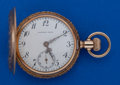 Timepieces:Pocket (post 1900), Lambert Bros. (Longines) 14k Gold O Size Hunters Case Pocket Watch....