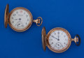 Timepieces:Pocket (post 1900), Two O Size Gold Filled Hunters Case Pocket Watches. ... (Total: 2Items)