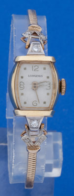 Longines 14k Yellow Gold Wristwatch With 14k Yellow Gold Band