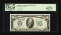 Error Notes:Skewed Reverse Printing, Fr. 2008-G* $10 1934C Federal Reserve Note. PCGS Gem New 66PPQ.....