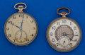 Timepieces:Pocket (post 1900), Two Illinois 17 Jewel Autocrats Runners. ... (Total: 2 Items)