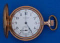 Timepieces:Pocket (post 1900), Waltham Multicolor O Size Gold Filled Hunters Case Pocket Watch....