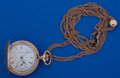 Timepieces:Pocket (post 1900), Elgin O Size Gold Filled Pocket Watch With Slide Chain. ...