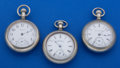 Timepieces:Pocket (post 1900), Three American 18 Size Pocket Watches. ... (Total: 3 Items)