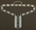 Silver Smalls:Other , A MEXICAN SILVER AND MALACHITE NECKLACE . William Spratling, Taxco,Mexico, circa 1949-1951. Marks: SPRATLING STERLING DE...