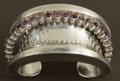 Silver Smalls:Other , A MEXICAN SILVER AND AMETHYST QUARTZ CUFF . Antonio Pineda, Taxco,Mexico, circa 1955. Marks: (Antonio crown), STERLING ME...