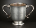 Silver Holloware, American:Cups, AN AMERICAN SILVER AND SILVER GILT TWO-HANDLED TROPHY . Tiffany& Co., New York, New York, circa 1913. Marks: TIFFANY &CO...