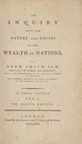 Books:World History, Adam Smith. An Inquiry into the Nature and Causes of the Wealth of Nations. London: A. Strahan, 1786.. Fourth ... (Total: 3 Items)