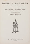 Books:Children's Books, Frederic Remington. Done in the Open. New York: R. H.Russell, Publisher, 1902. Later edition. Folio. Fully ...