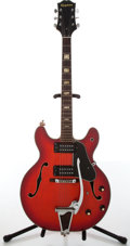 Musical Instruments:Electric Guitars, 1990s Epiphone 5102T-E Redburst Electric Guitar, #0123446....