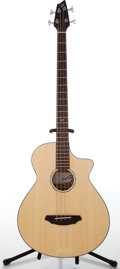 Musical Instruments:Bass Guitars, Breedlove Studio BJ350/SM4 Natural Electric Acoustic Bass Guitar, #09098815....