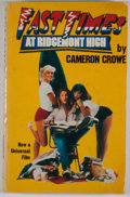 Books:First Editions, Cameron Crowe. Fast Times at Ridgemont High. New York: Simon& Schuster, [1981]. First trade edition, first prin...