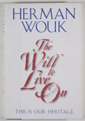 Books:Signed Editions, Herman Wouk. INSCRIBED. The Will to Live On. New York: HarperCollins, [2000]. First edition, first printing. I...