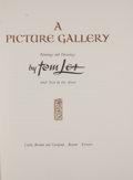 Books:First Editions, Tom Lea. A Picture Gallery. Boston: Little, Brown, [1968].First edition. Octavo volume, accompanied by portfolio. 1...