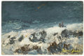 Fine Art - Painting, American:Antique  (Pre 1900), MARIA J C A'BECKET (American, 1840-1904). Ocean Scene. Oilon panel. 12-1/4in. x 18-1/2in.. Signed at lower right Mari...(Total: 1 Item)