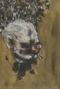 Fine Art - Painting, American:Other , ARTIST UNKNOWN (Twentieth Century). Clown, 1960. Gouache,charcoal, and ink on paper. 29-1/2in. x 20in.. Signed indistin...(Total: 1 Item)