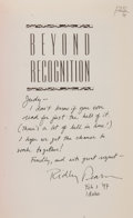 Books:Signed Editions, Ridley Pearson. INSCRIBED. Beyond Recognition. New York: Hyperion, [1997]. First edition, first printing. Octavo. 48...