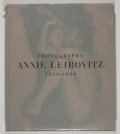 Books:First Editions, Annie Leibovitz. Photographs Annie Leibovitz 1970-1990. [NewYork]: HarperCollins, [1991]. First edition, first prin...
