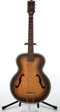 Musical Instruments:Acoustic Guitars, 1960s Harmony H1213 Archtop Natural Burst Acoustic Guitar....