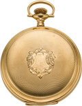 Timepieces:Pocket (post 1900), Waltham 18k Gold 16 Size Hunter's Case Pocket Watch. ...