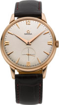 Timepieces:Wristwatch, Omega 18k Rose Gold Gents Wristwatch. ...