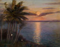 Fine Art - Painting, American:Modern  (1900 1949)  , FROM THE ESTATE OF CHARLES MARTIGNETTE.. CHARLES WARDE TRAVER(American, b. 1880). A View of the Sunset, 1921. Oil...