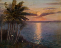 CHARLES WARDE TRAVER (American, b. 1880) A View of the Sunset, 1921 Oil on canvas 12 x 15 inches