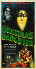 "Movie Posters:Horror, Dracula's Daughter (Universal, 1936). Three Sheet (41"" X 81"").. ..."