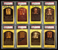 Baseball Collectibles:Others, Baseball Legends Signed Hall of Fame Plaque Postcards Lot of 8....